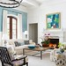 Living Room Decor : For a color addition that's not too permanent, paint one wall and leave the othe...