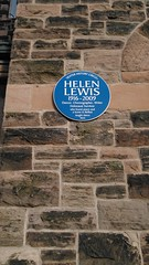 Photo of Helen Lewis blue plaque
