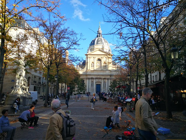Square in front of Sorbonne University