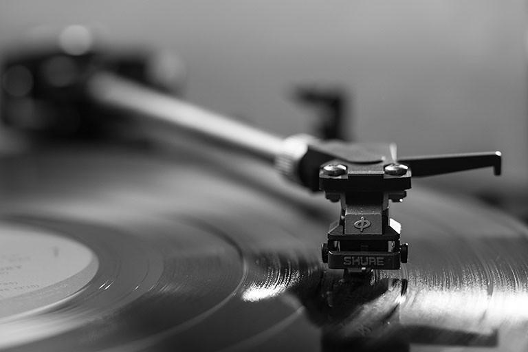 古老的唱片播放機