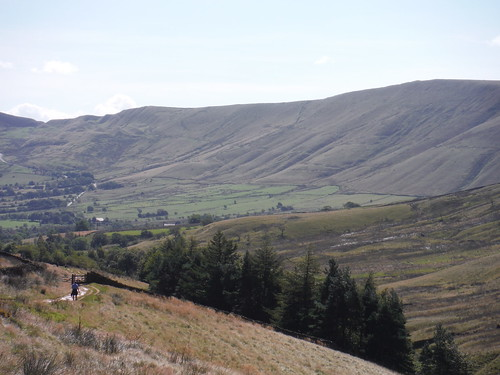 Backview towards Rushup Edge with Lord's Seat