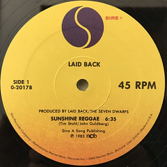 LAID BACK:SUNSHINE REGGAE(LABEL SIDE-A)