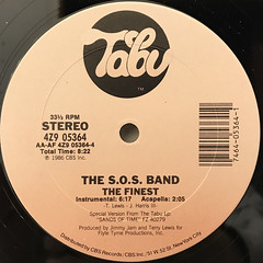 SOS BAND:THE FINEST(LABEL SIDE-B)