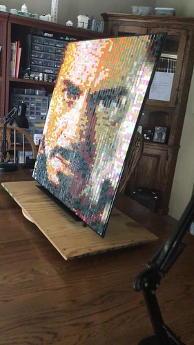 Iron Man Lenticular Mosaic made with Lego
