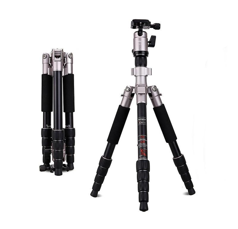 Tripod Chân máy ảnh siêu gấp gọn FOTOPRO X-4iE gấp gọn 31,5cm chịu lực 8kg