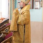 Преосвященнейший Феогност епископ Новороссийский и Геленджикский Божественную литургию в кафедральном Свято-Вознесенском соборе города Геленджика