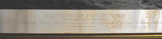 """Triumph of Patriotism"" engraving border detail"
