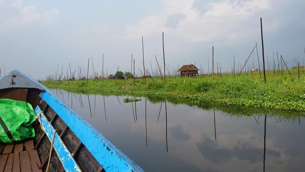 Floating garden on Inle Lake, Myanmar