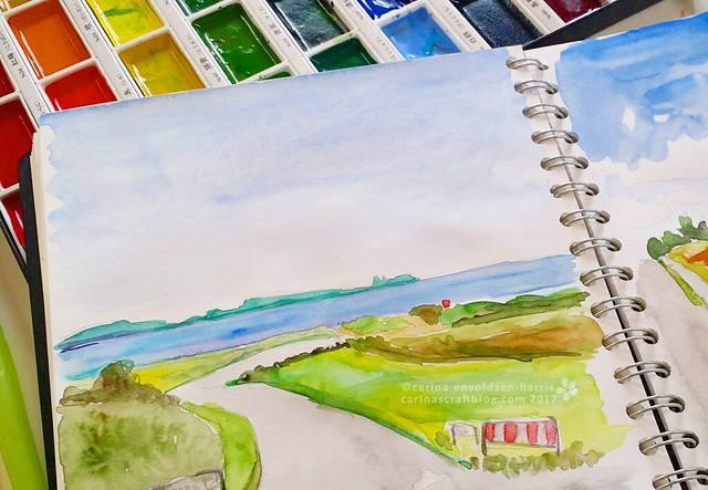 Landscape - sketchbook page