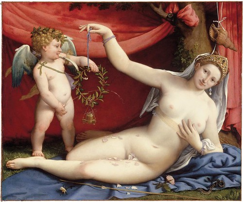 """Venus and Cupid"" by Lorenzo Lotto (1525)"