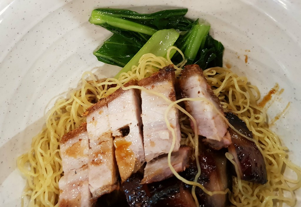 叉燒燒肉雲吞麵 ChaSiew RoastedPork Wan Ton Mee $9 参 Cham $2.6 @ 港飲港吃美食坊 Kong Yam Kong Sek Food Court Center Point Bandar Utama