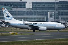 YR-BGG Tarom 'Happy 60 Years' BGoeing 737-78J(WL) at Frankfurt on 18 September 2017