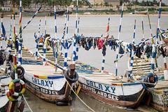 Bateaux sur le port d'Aneho, Togo