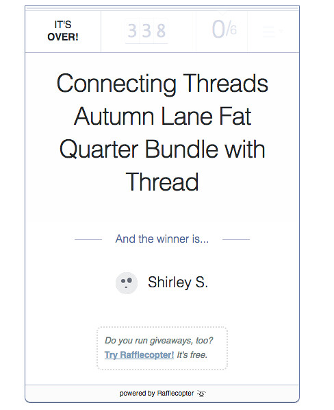 Connecting Threads winner at From My Carolina Home