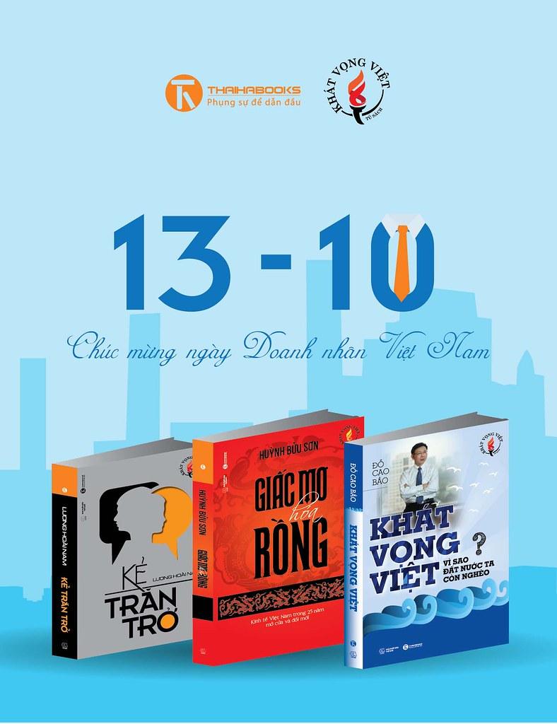 Thái Hà Books ra mắt dòng sách mới KHÁT VỌNG VIỆT trong tủ sách Kinh tế
