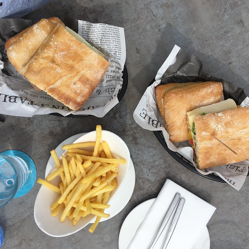 Soulfood with Sandwiches and French Fries