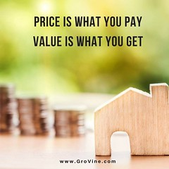 'Price is what you pay, Value is what you get.'   ---- Warren Buffet  Visit www.grovine.com  Write to marketing@grovine.com  #business #price #value #investment #strategy