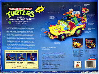 TEENAGE MUTANT NINJA TURTLES :: MIKE'S KOWABUNGA SURF BUGGY ..box iv (( 1991 ))