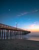 Moonrise Over Cayucos Pier by optimalfocusphotography