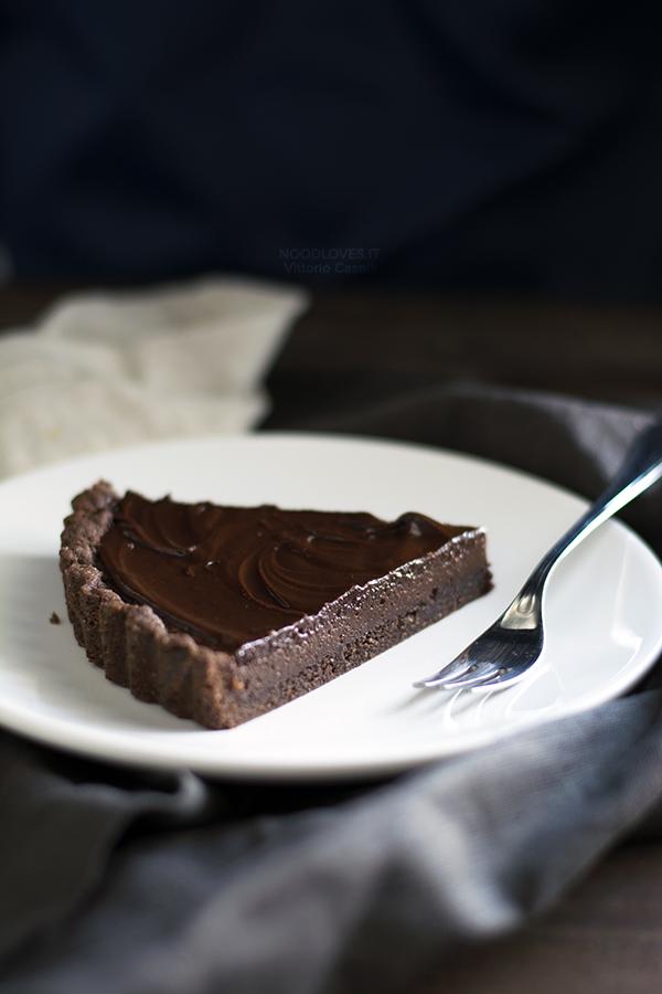 Crostata al cioccolato nocciole e caffè