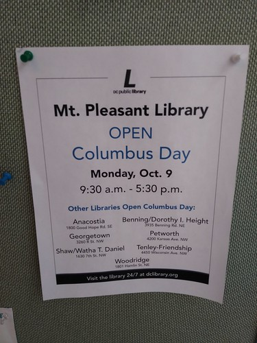 Some DC Public Libraries will be open on federal holidays starting in FY2018