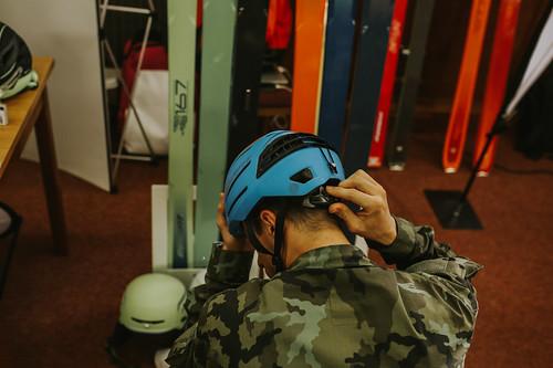 Účastníci si mohli vyzkoušet nové skialpinistické vybavení