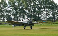 Spitfire landing at Goodwood