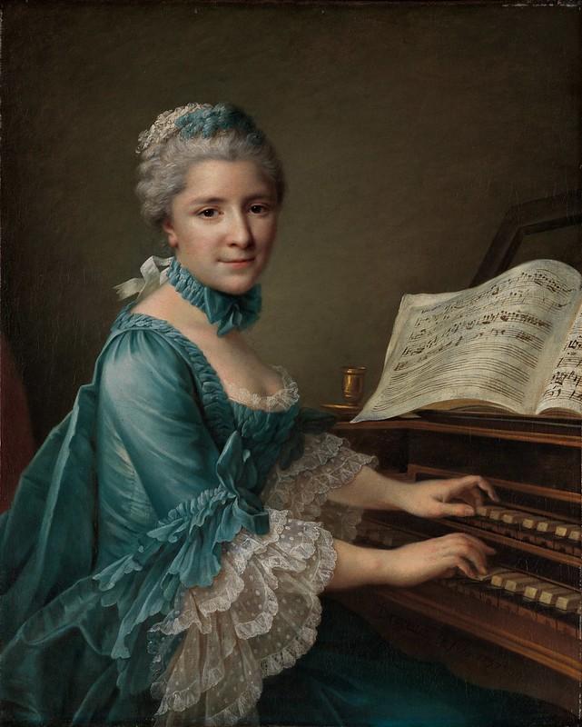 François Hubert Drouais - Madame Charles Simon Favart (1757)