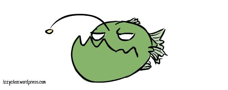 drawlloween angler fish deep sea creature