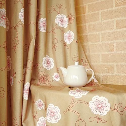 大小梅花 典雅花卉 半遮光無接縫窗簾布 DA1590031