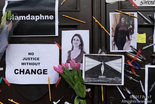 Justice for Daphne Caruana Galizia 22 October 2017