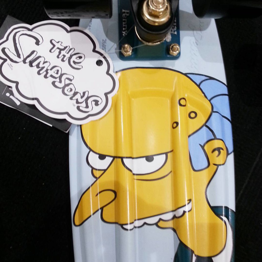 """Release the hounds!"" Our fave Mr Burns has his own Penny model. #thesimpsons #pennyskateboards #boarderlabs #calstreets"
