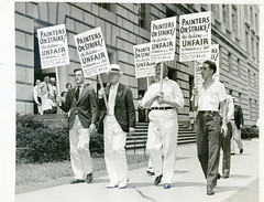 Painters dispute nearly sets off general strike: 1937