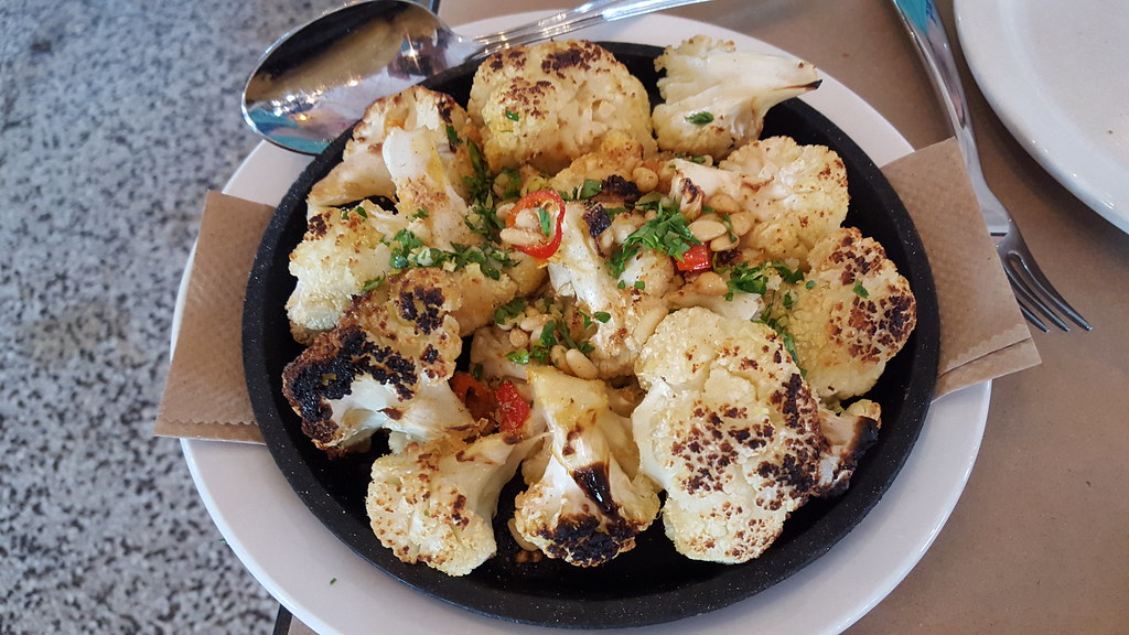 Roasted cauliflower, Stella, Mass Ave, Indianapolis