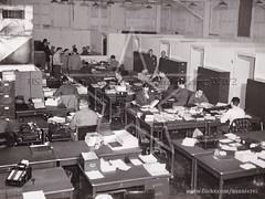 LOC Material Control Division at Langford Lodge 1942/43