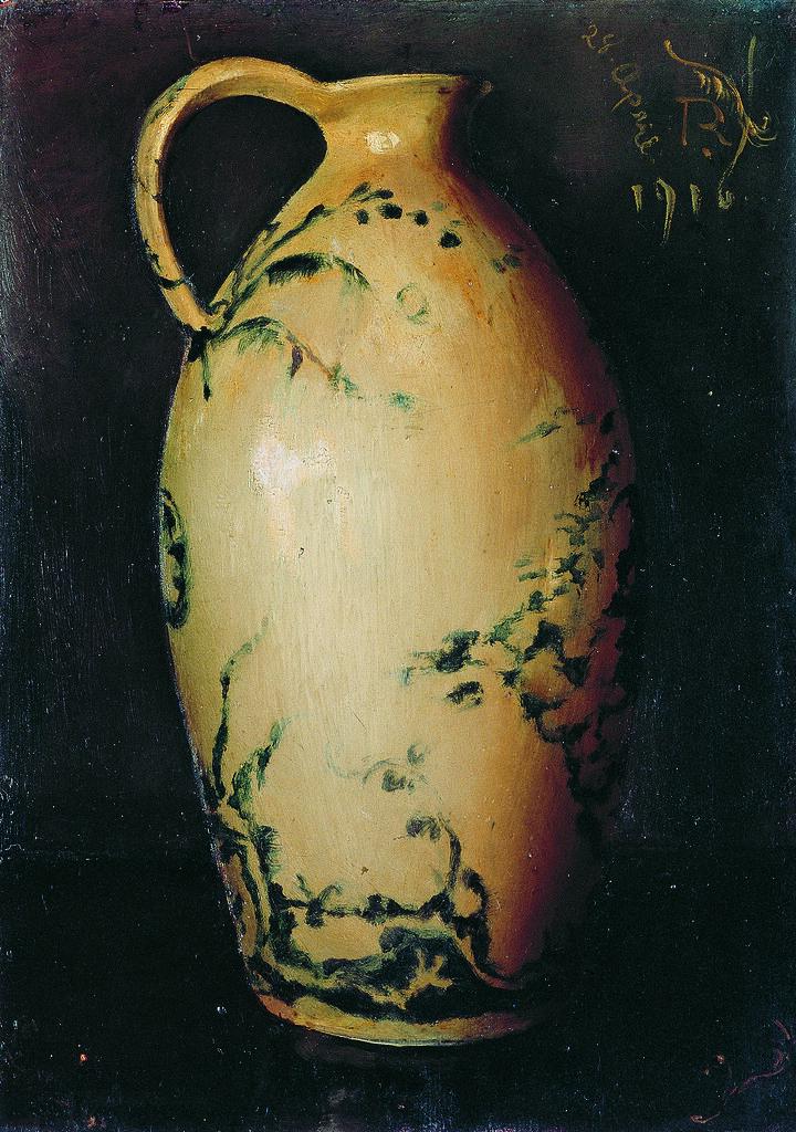 岸田劉生《壺》(1916年、下関市立美術館)