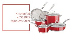 Stainless Steel Cookware Set Review : Kitchen Aid KCSS10LS Stainless Steel 10-Piece Cookware Set