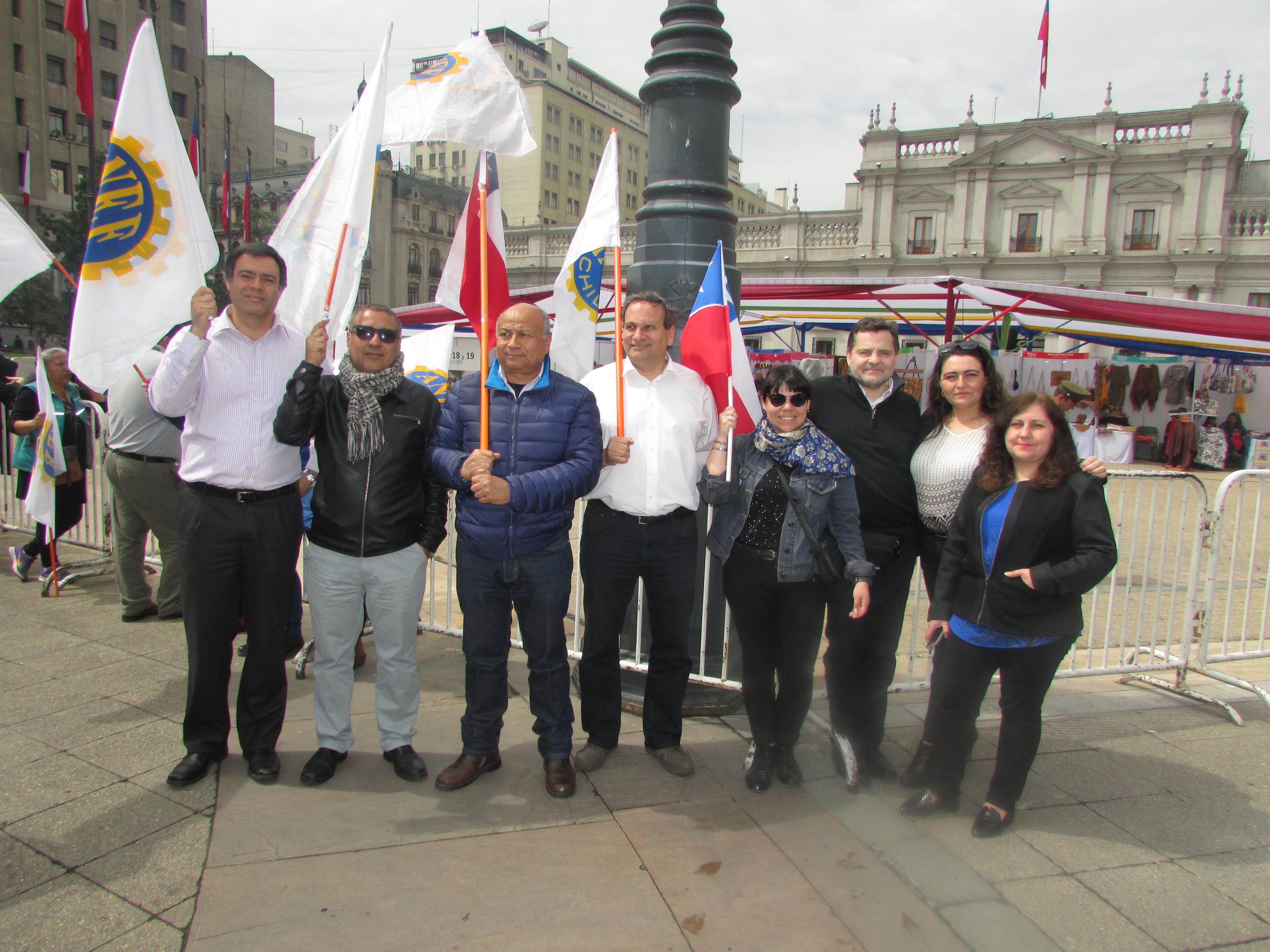 """Gremios FTH presentes en Jornada de Protesta y Movilización"""" en respaldo a demandas MSP-CUT – 17 Octubre 2017"""