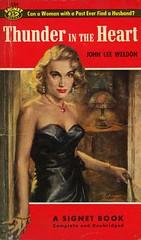 Signet Books 1184 - John Lee Weldon - Thunder in the Heart