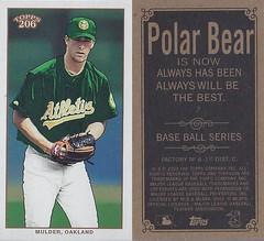2002 Topps 206 Mini Baseball Card / Series 1 / Polar Bear - MARK MULDER #7 (Pitcher) (Oakland Athletics)