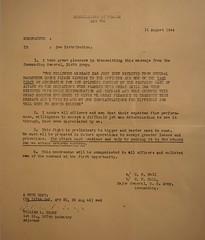 Gen. Douglas MacArthur - HEADQUARTERS US FORCES APO 705