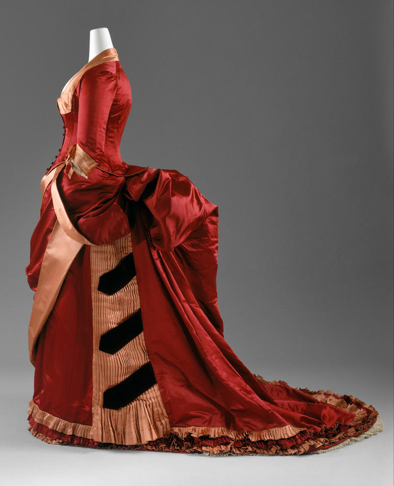 1884-86. Dinner Dress. American. Silk. metmuseum