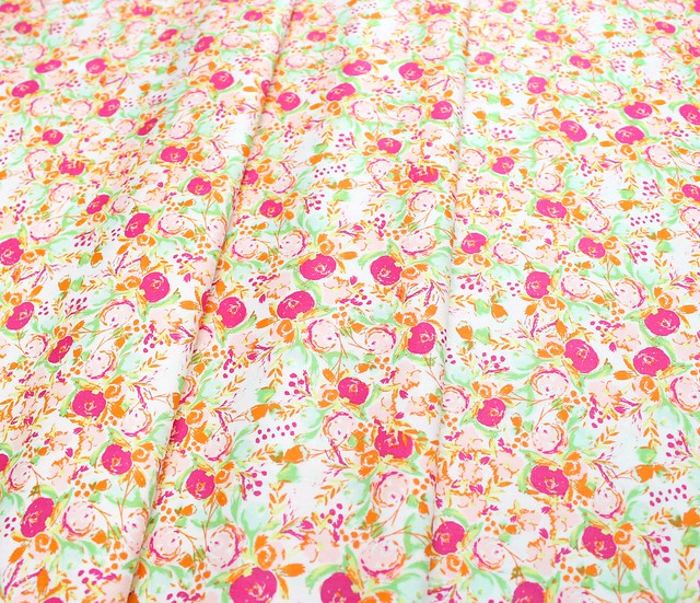 Art Gallery Fabrics Wild Bloom Flowerfield Sunrise