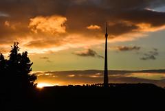Autumn Sunset over Emley Moor
