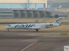 Adria Airways CRJ701ER S5-AAZ taxiing at AMS/EHAM