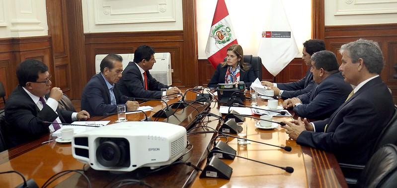 La presidenta del Consejo de Ministros, mercedes Aráoz, se reunió con 6 gobernadores de la Mancomunidad regional del Norte y Oriente