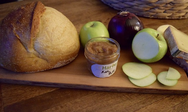 Apple Butter Grilled Cheese with DC Harvest