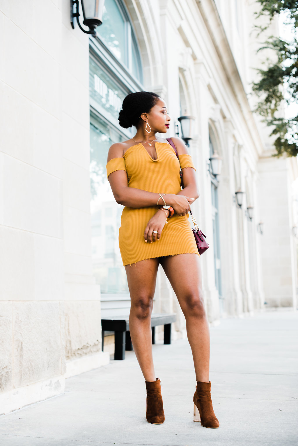how to style a bodycon dress, candace hampton