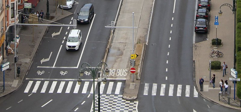 Pedestrian crossing in Brussels