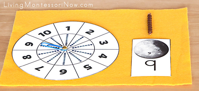Moon Spinner and Bead Bar Matching Activity